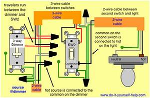 Wiring 3 Way  Dimmer First  Power Source At Dimmer