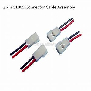 2 Pin Molex 51005 Connector Male Female Cable Wire Harness