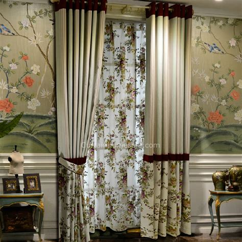 country style kitchen curtains american country style curtain print with floral and 6208