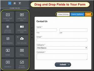 Add and customize contact form in weebly site webnots for Weebly drag and drop templates