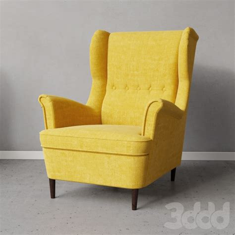 strandmon wing chair skiftebo yellow 3d модели кресла strandmon wing chair skiftebo yellow