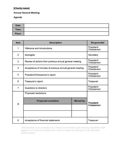 agenda templates  word  premium templates