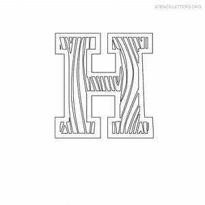 stencil letters h printable free h stencils stencil With letter stencils for wood