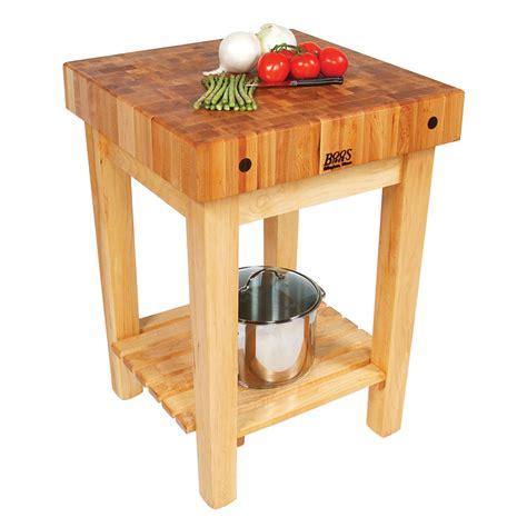 """John Boos Gb 4"""" Maple Top Butcher Block Work Table W"""