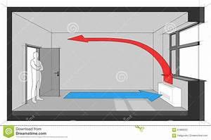 Wall Fan Coil Unit Diagram Stock Vector  Illustration Of