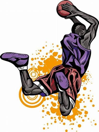 Dunk Basketball Slam Player Athlete Clipart Dunking