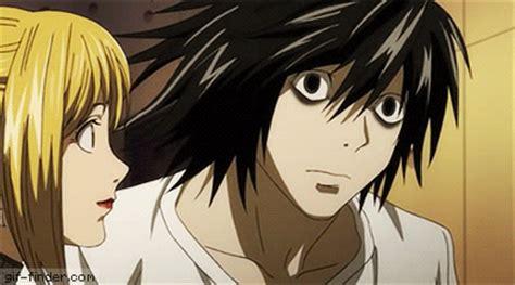 Anime Kiss Death Note Death Note Gif Misa Amane Kisses Ryuzaki L Gif Finder