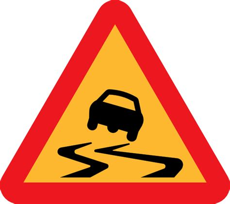 Download your collections in the code format compatible with all browsers, and use icons on your website. Slippery Road Sign clip art (109473) Free SVG Download / 4 ...