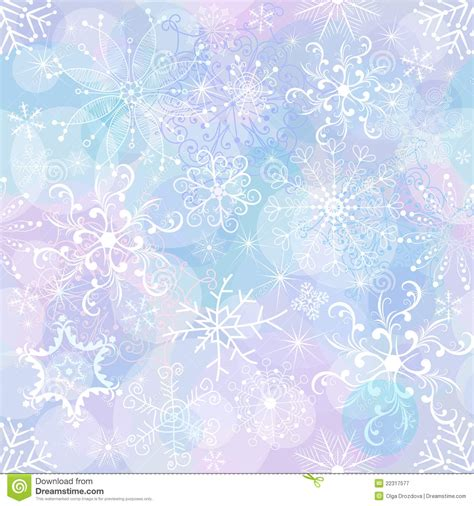 Purple Pastel Snowflake Background by Seamless Wallpaper Stock Vector Illustration