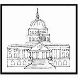 Capitol Coloring Printable sketch template