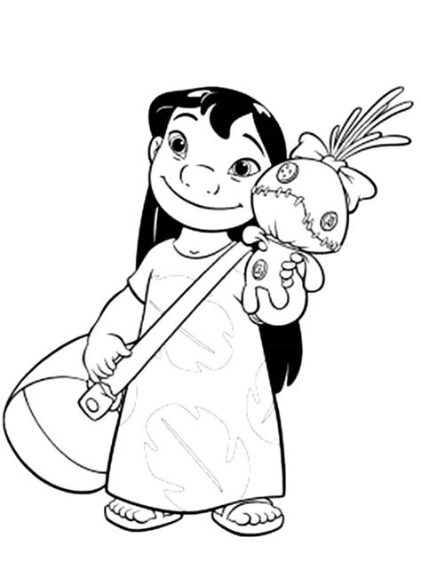 lilo  bag   doll  lilo stitch coloring page  print  coloring pages