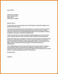 9 application letter for a security job texas tech With application letter for security job