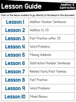 grade math curriculum addition  subtraction