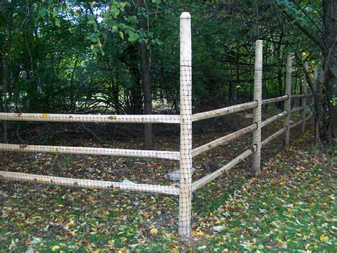 Deer Fencing On Wood Posts Gallery