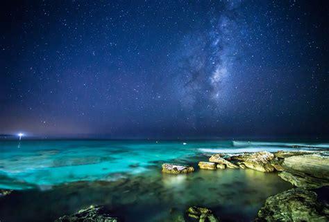 landscape sea night stars wallpapers hd desktop
