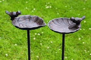 Abreuvoir A Oiseaux Pour Jardin : abreuvoir pour oiseaux bain oiseau sur tige jardin en fonte 2 sortes 1 pi ce 20 cm x 14 ~ Melissatoandfro.com Idées de Décoration