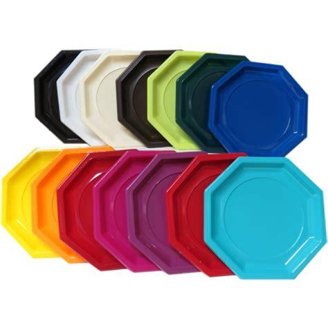 assiette en plastique rigide octogonale de 240mm