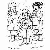 Christmas Pages Coloring Choir Printable Carolers Clip Carol Dickens Joy Rugs Momjunction sketch template