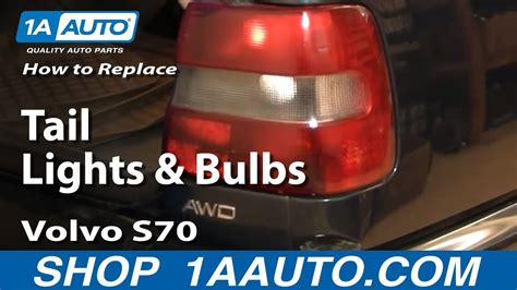 install replace broken tail light  bulb volvo