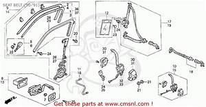 Honda Civic 1990  L  4dr Dx  Ka Kl  Seat Belt   U0026 39 90