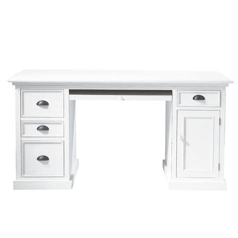 meuble bureau blanc bureau en pin blanc l 150 cm newport maisons du monde