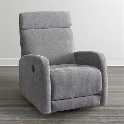 charcoal gray swivel recliner