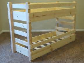 diy bunk beds kids toddler diy bunk bed plans fits crib