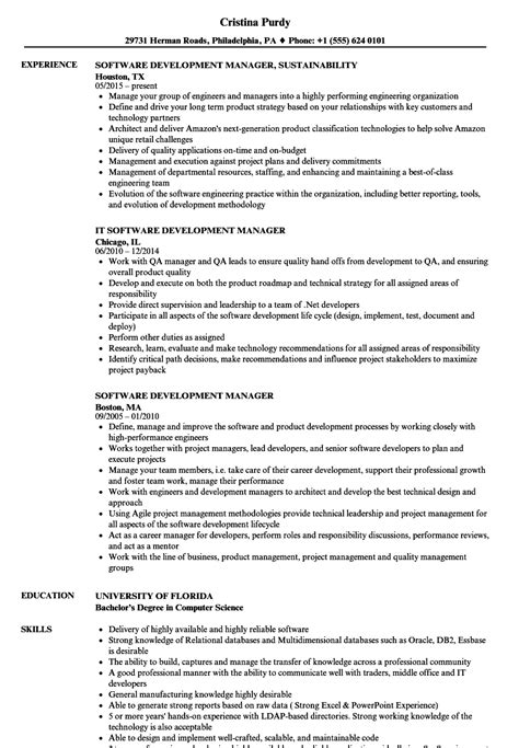 Software Development Manager Resume by Software Development Manager Resume Sles Velvet