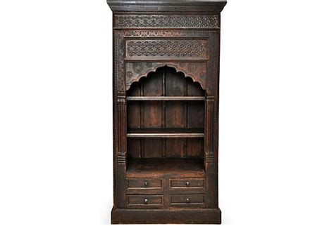Unique Bookcases For Sale by Buckingham Interiors Design Antique Indian Carved