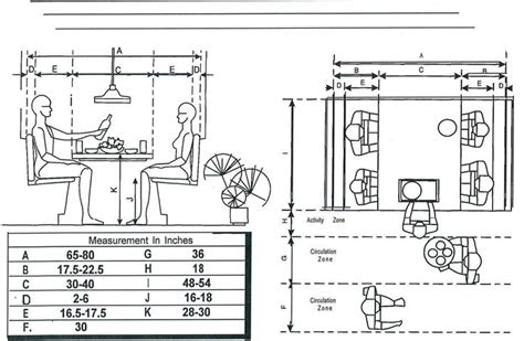 Measurements For A Breakfast Booth  Floor Plans, Booths