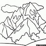 Mountain Snowy Drawing Coloring Getdrawings sketch template