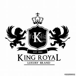 """King royal,crest logo,lion logo,king logo,crown logo ..."