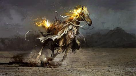 apocalypse horsemen four scroll 4k