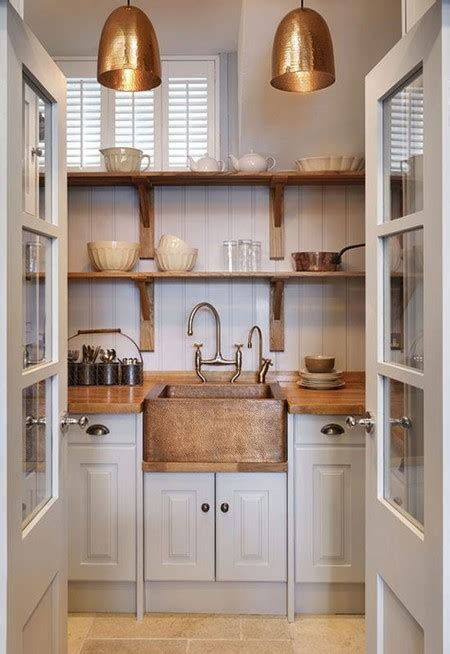 ideas  decorar la cocina  accesorios  mobiliario de cobre