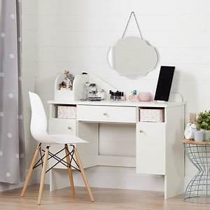 Coiffeuse Meuble Ikea : south shore vito meuble coiffeuse avec tiroir blanc solide walmart canada ~ Teatrodelosmanantiales.com Idées de Décoration