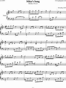 Piano Sheet Music Mika39s Song Wwwgangqinpucom