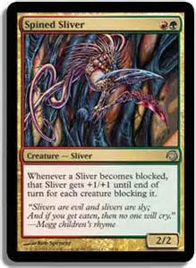 spined sliver foil premium deck slivers magic the gathering mtg single card abugames