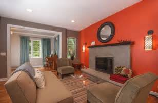 Curtains With Orange Accents by What Color To Paint My Living Room Home Decorators