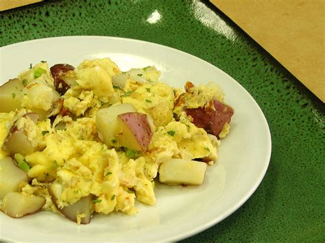 scramble cuisine potato and egg scramble food and nutrition