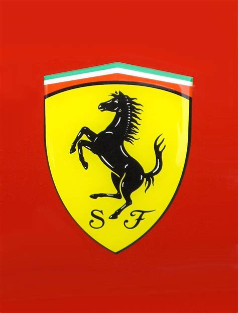 I added suggestion of shape using meshes. Ferrari Logo Digital Art by Ferrari Logo
