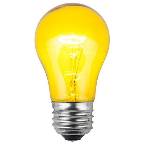 picture light bulbs e26 and sign bulbs a15 transparent yellow 15 watt