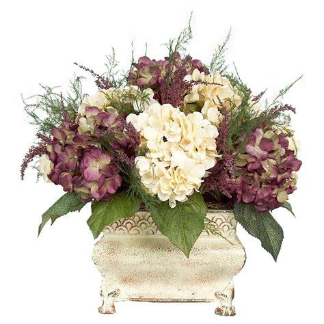 Artificial Flower Arrangements Centerpieces Purple And