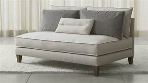 armless loveseat from crate barrel decoist With sofa bed no arms