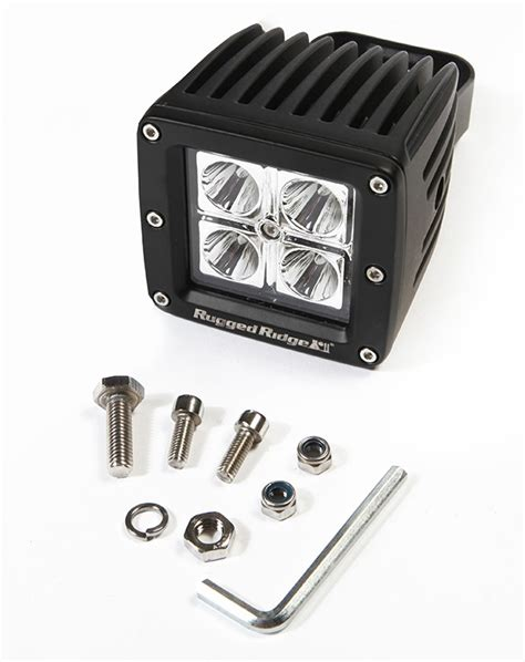 Rugged Ridge Led Driving Light 16 Watt 3 Inch Square