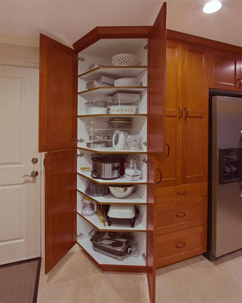 Pantry Cabinet Storage Solutions by Angled Pantry Anyone Esthetics And Functionality All In
