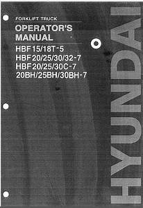 Hyundai Forklift Trucks Set Of Pdf Manuals