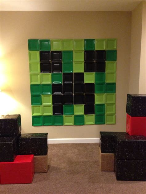 creeper small paper plate wall decor minecraft pinterest decor creepers  plate wall