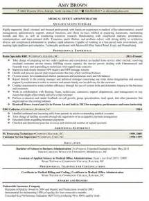 Office Administrative Resume by Office Administrator Resume Sles Recentresumes
