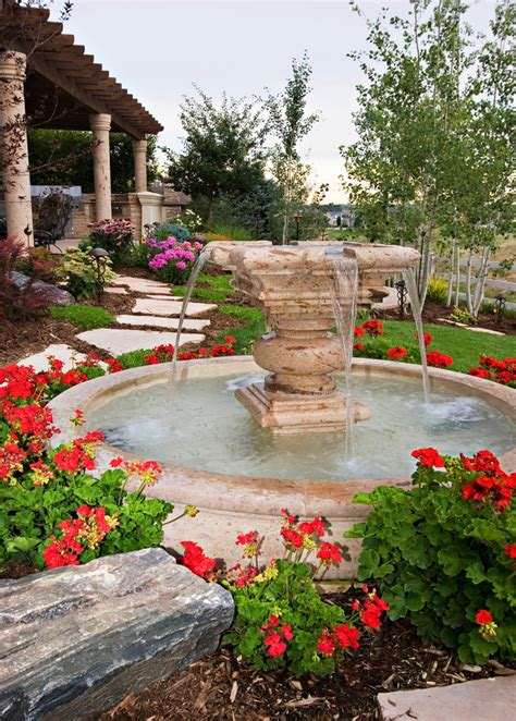landscaping fountains superb home depot fountain decorating ideas images in landscape mediterranean design ideas