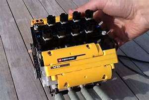 Small V8 Engine Made From Lego Works On Compressed Air
